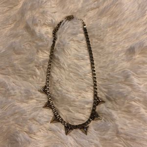 H&M Chunky gold chain spike necklace